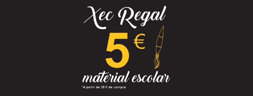 Xec regal 5 Euros - Compra material escolar a Sobrerroca