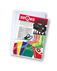 Comprar Caja 100 fundas multitaladro Dequa PP extra liso 16 taladros 80µ Folio