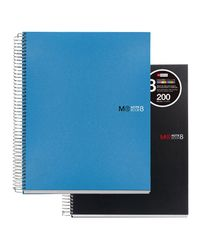 Comprar Cuaderno Miquel Rius microperforado Note Book-8 polipropileno A4 cuadrícula 5x5 200h de 70 g/m2 azul