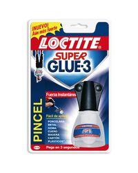 Comprar Tubo pegamento Loctite super glue 3 con Pincel 5gr