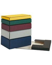 Comprar Caja proyecto Pardo con broches extra forrado lomo 15cm 32x24,5cm azul