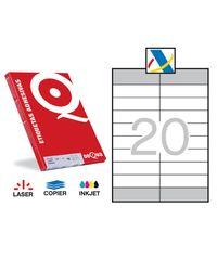 Comprar Pack 2000 etiquetas cantos rectos Dequa A4 Hacienda 105x29