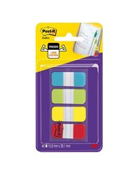 Comprar Dispensador Post-it® Index Rígido 15,8 x 38 marcadores (colores agua, lima, amarillo y rojo)