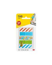 Comprar Dispensador Post-it® Index marcadores pequeños decorados, 100/Pack- 11,9 x 43,2mm