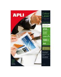 Comprar Pack 100h papel fotografico Apli doble cara láser 210gr A4 glossy