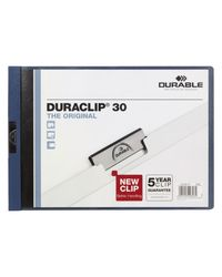 Comprar Dossier pinza Duraclip 1-30h a4 apaisado azul oscuro