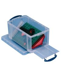 Comprar Caja almacenaje Really Useful boxes 8 l apertura frontal y superior 340x200x175 mm color cristal transparente
