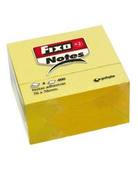 Comprar Cubo notas adhesivas Fixo Notes 76x76mm 400h  amarillo