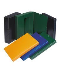 Comprar Caja proyecto cartón gofrado con gomas lomo 7cm A4 rojo