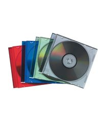 Comprar Pack 25 Estuches Fellowes CD slim 4 colores a 5 x color