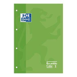 Comprar Recambio tapa blanda 80h 90g 4 taladros cuadrícula 5x5 A4+ verde
