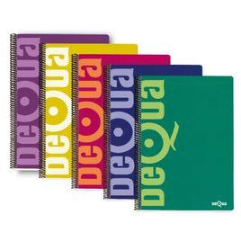 Comprar Cuaderno tapa cartón Dequa 80h 60g cuadrícula 4x4 4º colores surtidos