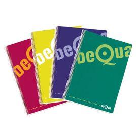 Comprar Cuaderno tapa dura Dequa 80h cuadrícula 4x4 folio colores surtidos