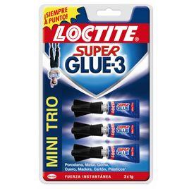 Comprar Pack 3 tubos pegamento Loctite super glue 3 mini 1gr