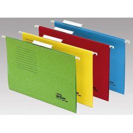 Comprar Pack 25 carpetas colgantes visor superior color folio fondo v amarillo