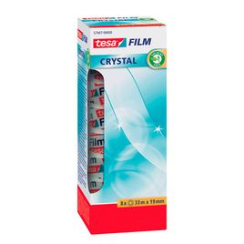 Comprar Pack 8 rollos cinta adhesiva tesafilm® Crystal Officebox 33mx19mm