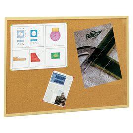 Comprar Tablero anuncios corcho Faibo económico marco madera 60X120cm