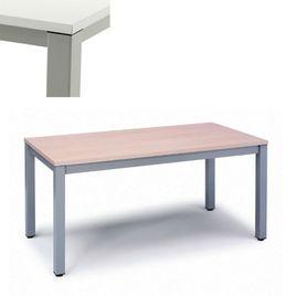 Comprar Mesa rectangular serie Executive 120x60x72-77cm. aluminio/blanco