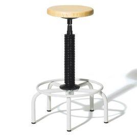 Comprar Taburete con estructura metálica y base de 5 pies husillo giratorio madera