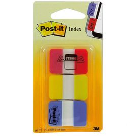 Comprar Pack 3 blocs notas index Post-it 686-RYB 25x38mm colores surtidos