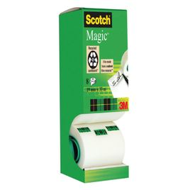 Comprar Pack 8 Rollos de cinta adhesiva invisible Scotch magic 19mmx33m