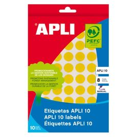 Comprar Pack 1008 etiquetas Apli escritura manual color redondas 10mm amarillo