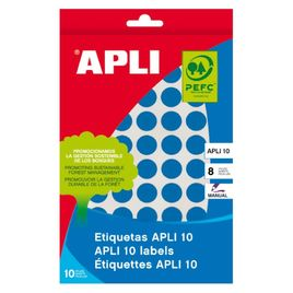Comprar Pack 320 etiquetas Apli escritura manual color redondas 19mm azul