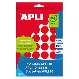 Comprar Pack 616 etiquetas Apli escritura manual color redondas 13Mm rojo