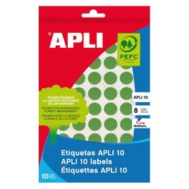 Comprar Pack 616 etiquetas Apli escritura manual color redondas 13Mm verde