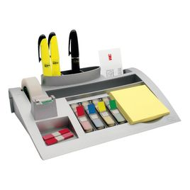 Comprar Organizador de mesa con bloc notas Post-it 655, 2 dispensadores medianos Post-it Index y un rollo de cinta Scoth Magic 19x33m.