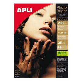 Comprar Pack 25h papel fotografico Apli photo bright PRO 280gr A4