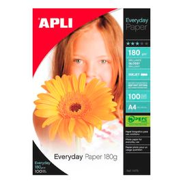 Comprar Pack 100h papel fotografico Apli Everyday 180gr A4