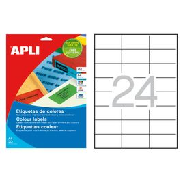 Comprar Pack 480 etiquetas Apli color cantos rectos 70X37mm rojo