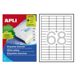 Comprar Caja 6800 etiquetas Apli cantos rectos 48,5x16,9mm