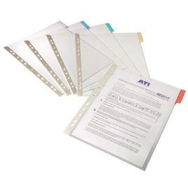 Comprar Caja 5 Fundas Durable clasificadores a4 transparente marco verde