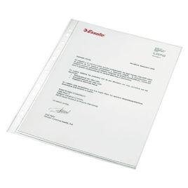 Comprar Caja 100 fundas portadocumentos pp 16 taladros 80 micras folio cristal sin refuerzo en el lomo