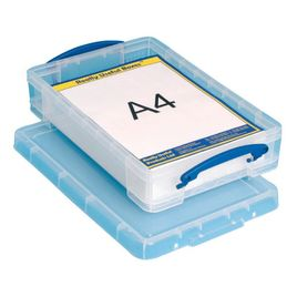 Comprar Caja almacenaje Really Useful boxes 4 l 348x220x68 mm color cristal transparente