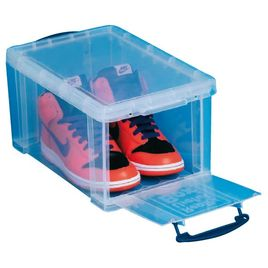 Comprar Caja almacenaje Really Useful boxes 14 l apertura frontal y superior color cristal transparente