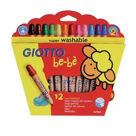 Comprar Estuche 12 lápices Giotto be-bé + sacapuntas colores surtidos