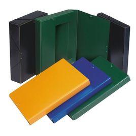 Comprar Caja proyecto cartón gofrado con gomas lomo 7cm A4 verde