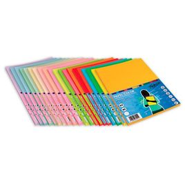 Comprar Pack 100h papel color 75gr A4 naranja fluorescente