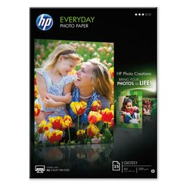Comprar Pack 25h papel fotografico HP semi-glossy 200gr A4
