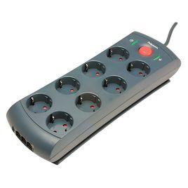 Comprar Protector Fellowes 8 tomas + línea telefónica/lan/adsl 1680 julios cable 2m