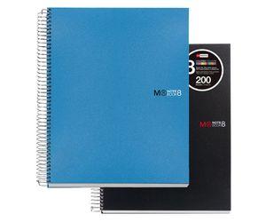 Comprar Cuaderno Miquel Rius microperforado Note Book-8 pp 70 gr. A4 cuadrícula 5x5 200h negro